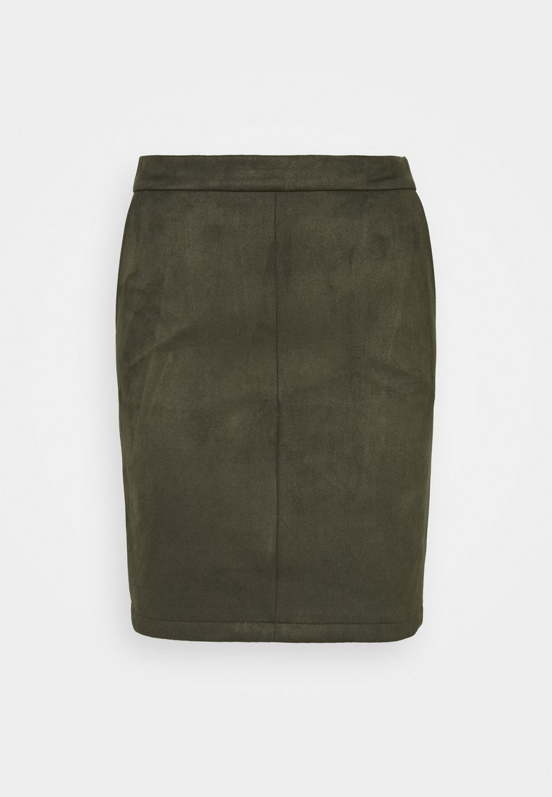 Vila - VIFADDY SKIRT - Pencil skirt - forest night