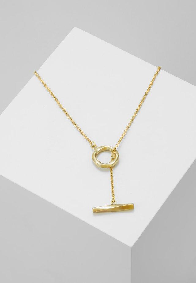 TWIST LARIAT NECKLACE - Necklace - gold-coloured