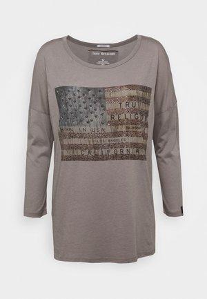 CREW AMERICAN FLAG - Topper langermet - grey