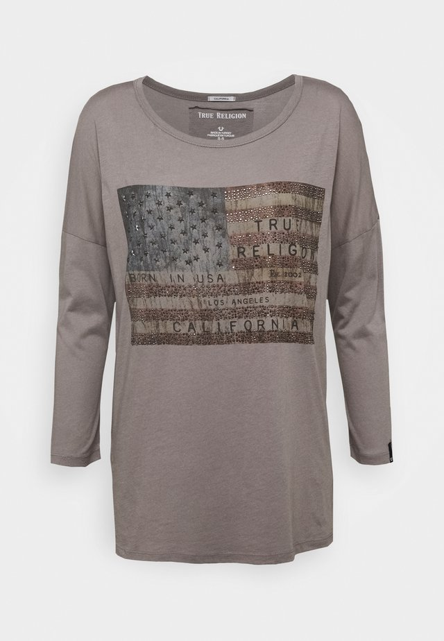 CREW AMERICAN FLAG - T-shirt à manches longues - grey