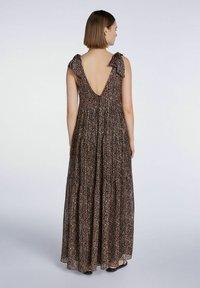SET - Maxi dress - dark brown camel - 2