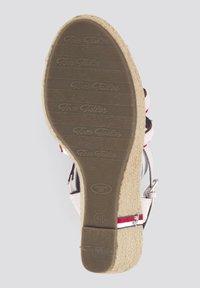 TOM TAILOR - MIT KEILABSATZ UND RIEMENDETAILS - Sandalen met hoge hak - egg - 3
