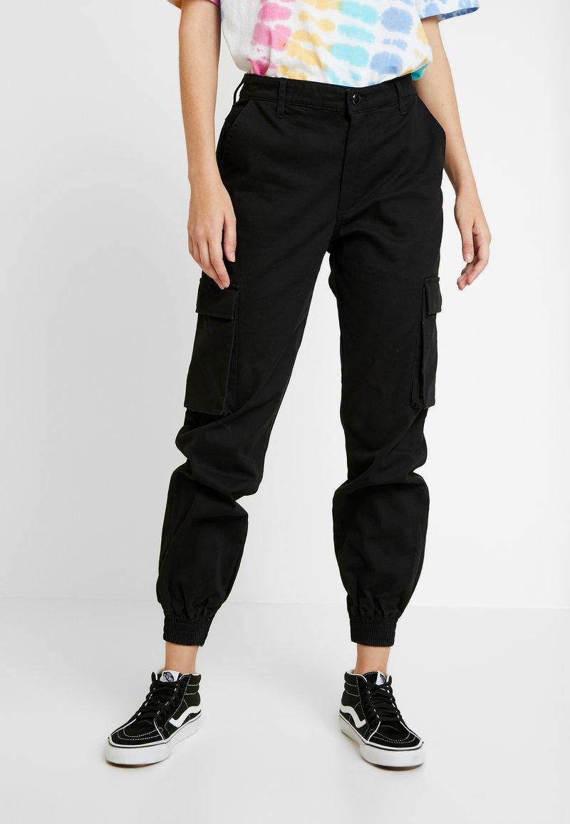 ONLY - ONLBETSY ALVA PANT - Cargo trousers - black