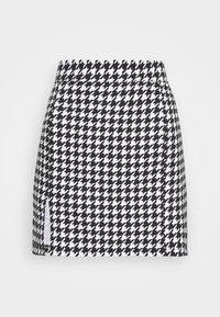 WAL G. - GEMMA DOG TOOTH SKIRT - Mini skirt - black/white - 3