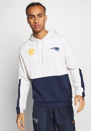 NFL COLOUR BLOCK HOODY NEW ENGLAND PATRIOTS - Mikina s kapucí - white