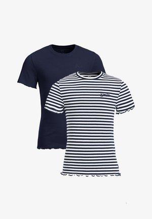 2PACK - T-shirt print - dark blue