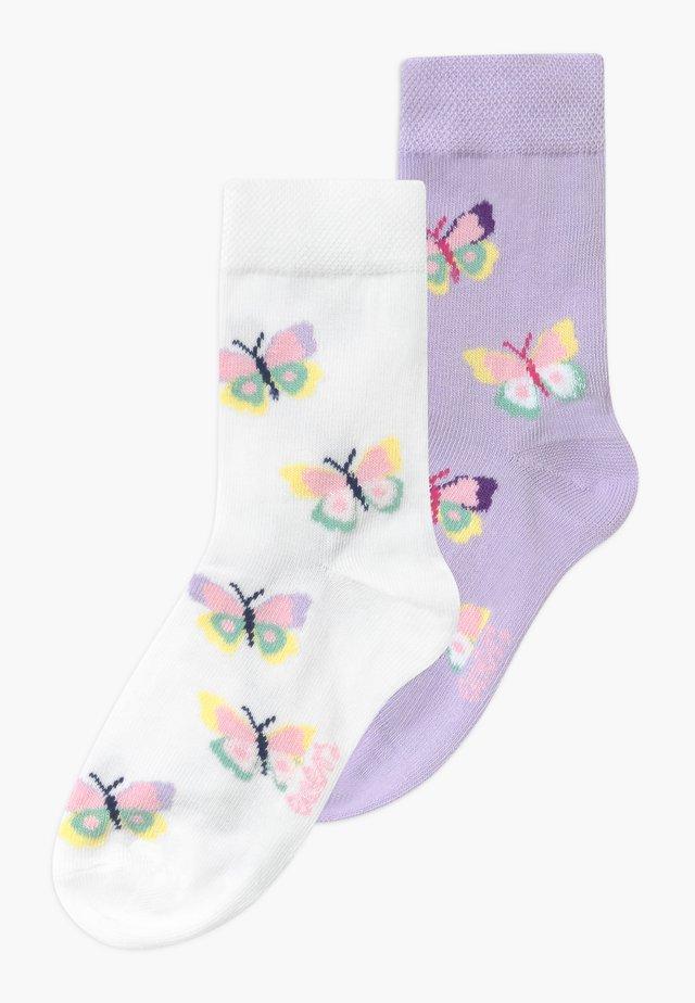 SCHMETTERLINGE 3 PACK - Socks - flieder/weiß
