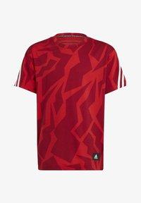 adidas Performance - FUTURE ICONS - Print T-shirt - red/white - 0