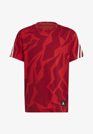 FUTURE ICONS - T-shirt con stampa - red/white