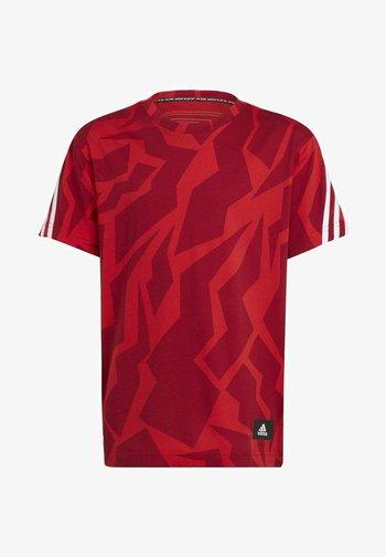 FUTURE ICONS - Print T-shirt - red/white