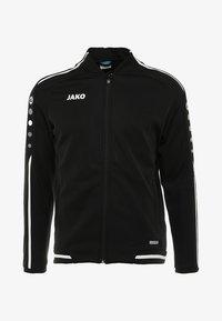 STRIKER - Zip-up hoodie - schwarz/weiß