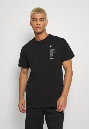 KORPAZ LOGOS GR ROUND SHORT SLEEVE - Print T-shirt - black