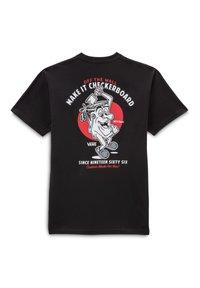 Vans - MN PAINT THE TOWN SS - Print T-shirt - black - 1
