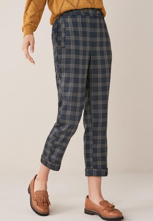 CHECK PEG - Trousers - dark blue