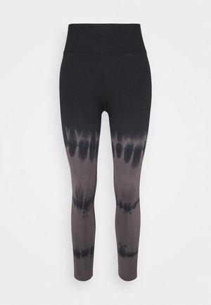 SEAMLESS TIE DYE - Leggings - Trousers - black bleach swirl