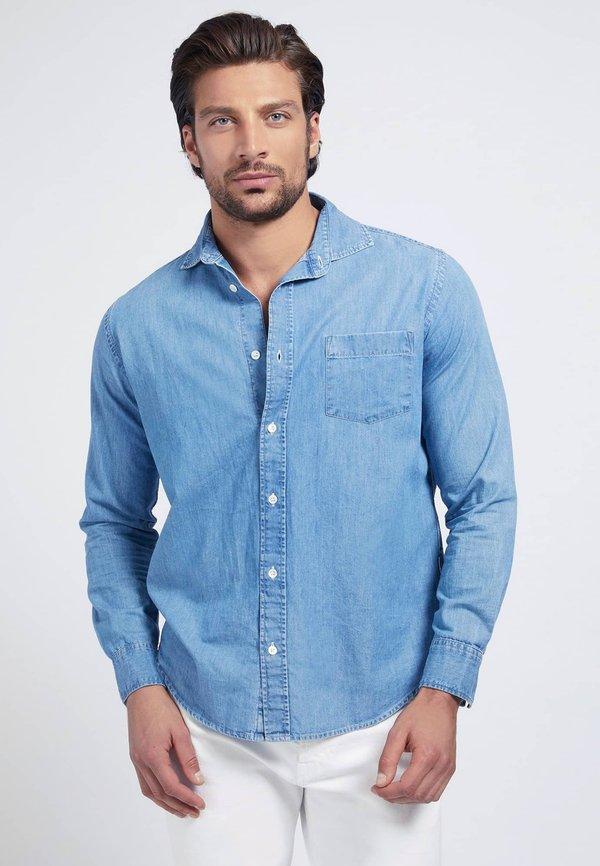 Guess REGULAR - Koszula - blau/niebieski Odzież Męska WVAP