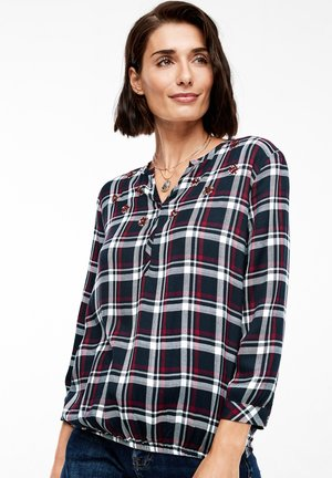 3/4 ARM - Blouse - navy check