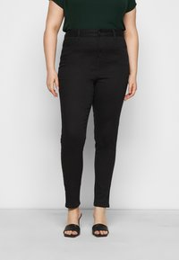 New Look Curves - WASHED LIFT AND SHAPE - Jeans Skinny Fit - black - 0