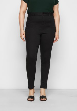 WASHED LIFT AND SHAPE - Skinny džíny - black