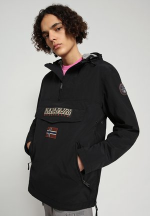 RAINFOREST SUMMER POCKET - Summer jacket - black