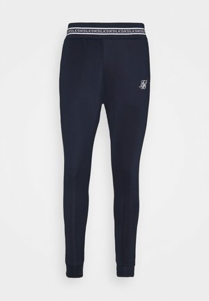 ELEMENT MUSCLE FIT CUFF - Tracksuit bottoms - navy/white