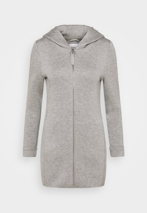 ONLLENA HOOD COAT PETIT  - Huvtröja med dragkedja - light grey melange