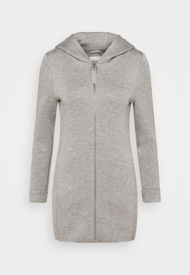 ONLLENA HOOD COAT PETIT  - Hoodie met rits - light grey melange