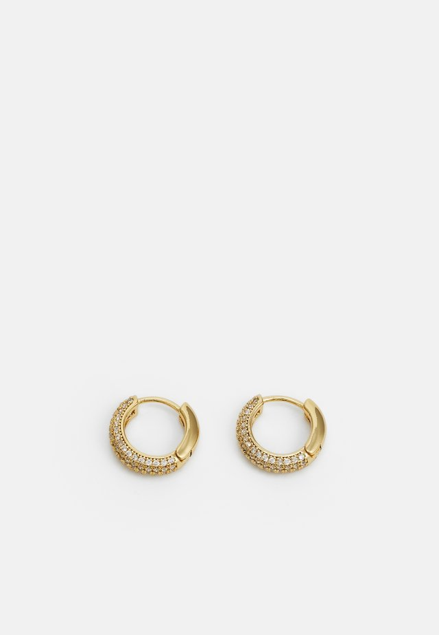 PAVE MINI HUGGIES - Boucles d'oreilles - gold-coloured