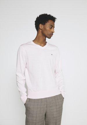 V NECK - Stickad tröja - light pink