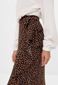 Bershka - A-line skirt - black - 3