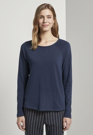 Long sleeved top - real navy blue