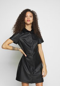 New Look Petite - BELTED DRESS - Shirt dress - black - 0