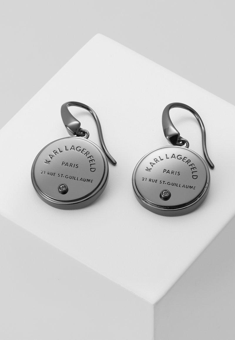 KARL LAGERFELD - RUE ST. GUILLAUME MEDALLION - Náušnice - silver-coloured