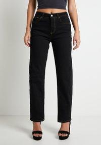 Pepe Jeans - DUA LIPA X PEPE JEANS - Straight leg jeans - black - 0