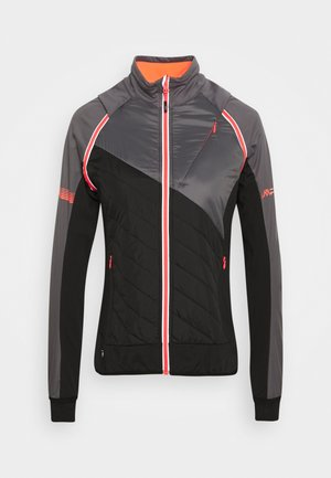 WOMAN JACKET WITH DETACHABLE SLEEVES - Outdoor jacket - graffite