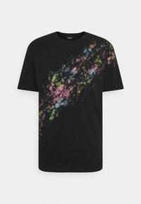 Diesel - T-JUST-A40 MAGLIETTA UNISEX - Print T-shirt - black - 0