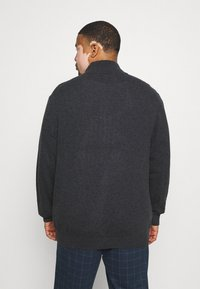 GANT - PLUS EXTRAFINE ZIP CARDIGAN  - Kofta - antracit melange - 2