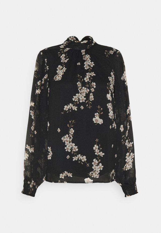 VMTILI HIGH NECK  - Blouse - black/occasion flower