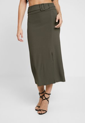 ARIANNA - Pencil skirt - khaki