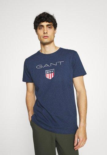 SHIELD - T-shirt med print - marine melange