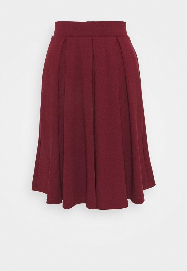 A-line skirt - dark red