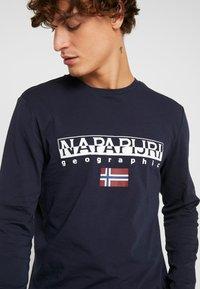 Napapijri - SGREEN LS  - Pitkähihainen paita - blu marine - 3