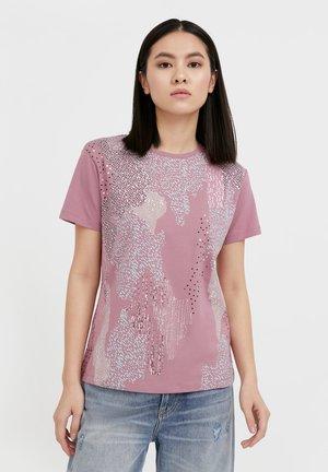 T-shirt imprimé - grey pink