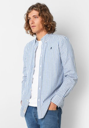WITH BUTTON-DOWN COLLAR - Hemd - blue stripes