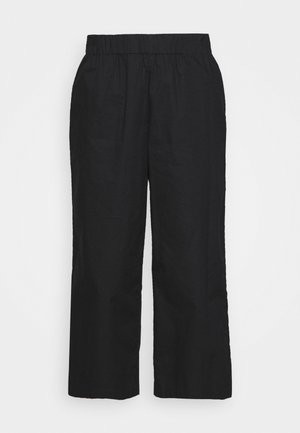 VILJA TROUSERS - Trousers - black dark