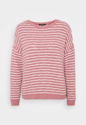 STRIPE - Jumper - mesa rose