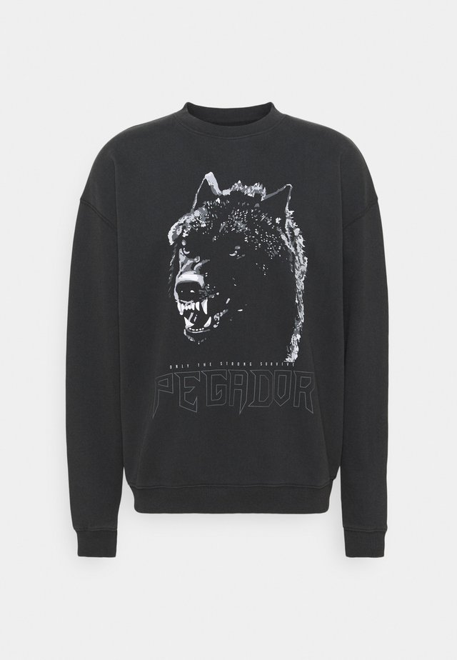 OREGON OVERSIZED UNISEX - Sweatshirt - washed black