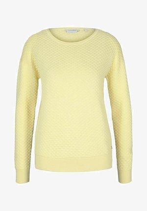 MIT WAFFELSTRU - Trui - soft yellow