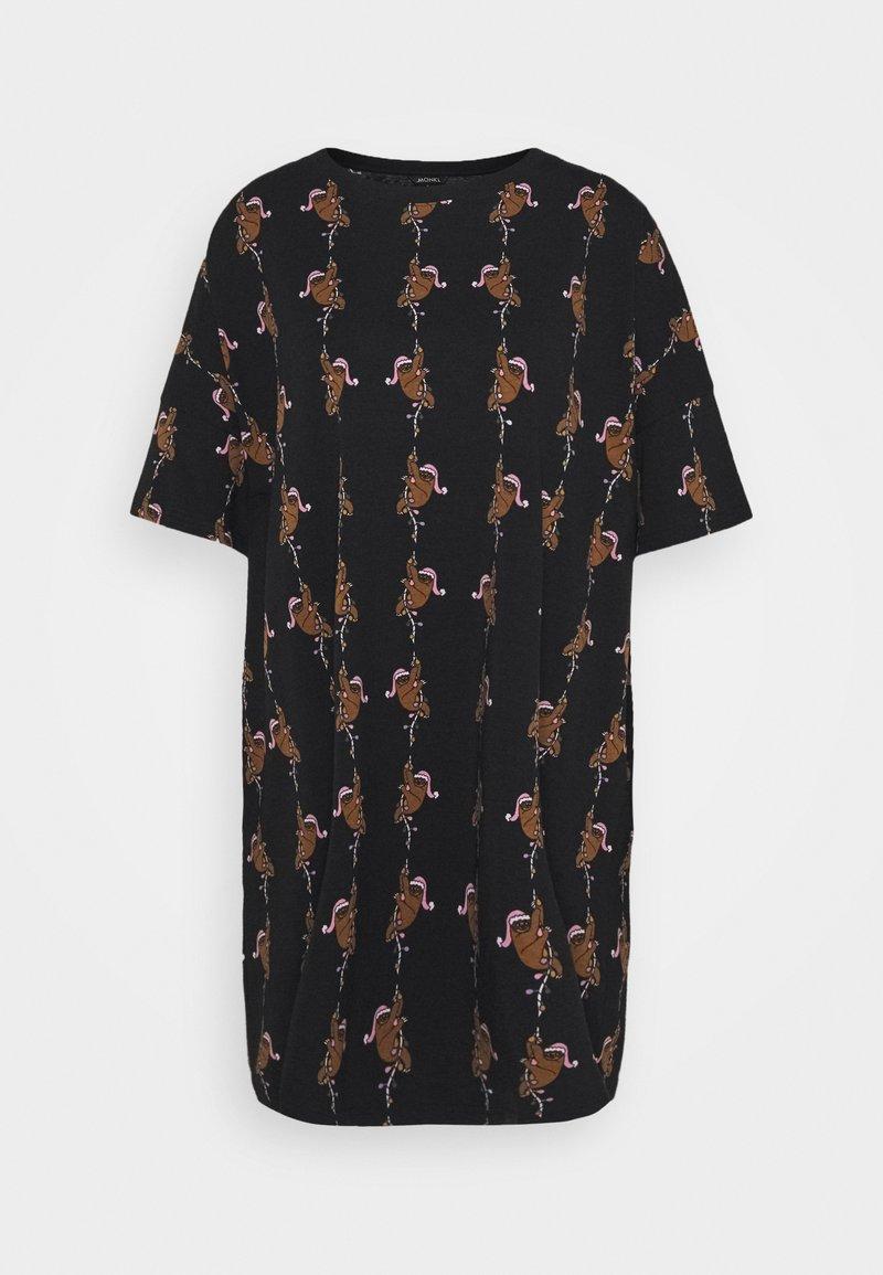 Monki - TOONIE - Noční košile - black