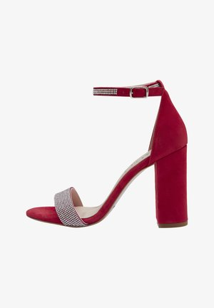 AVA - High heeled sandals - red